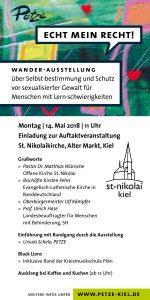 Während der Special Olympics: Ausstellung ECHT MEIN RECHT! in der St. Nikolaikirche