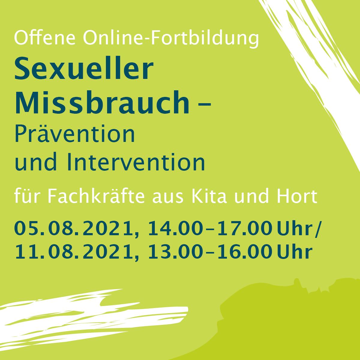 Sexueller Missbrauch Prävention und Intervention, Grundlagen (3 Std.)